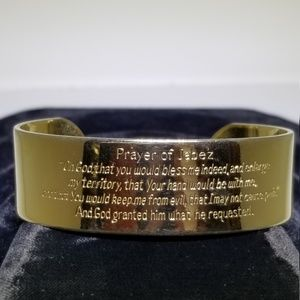 Wide Gold Cuff Prayer Bracelet #71